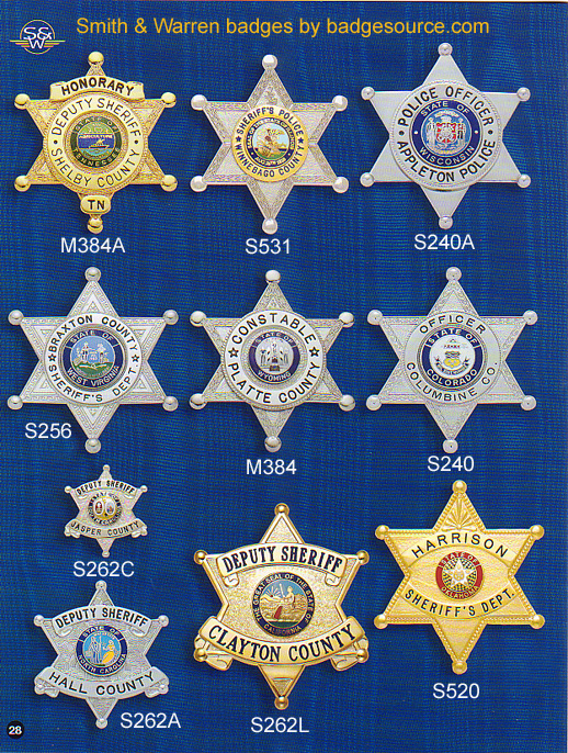 6 point star badges
