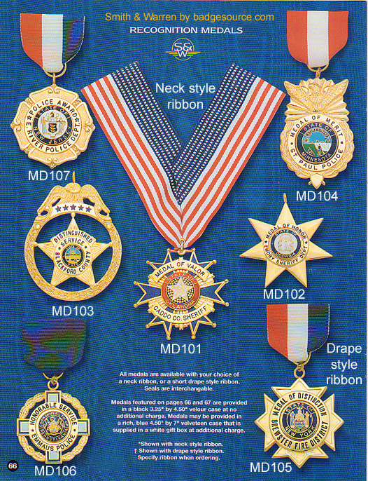 Recognition medals