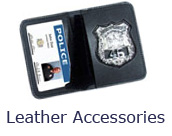Leather wallets, clips, ID cases for your badge