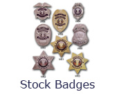Stock security and fire badges