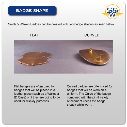 Badge forming: Flat and curved