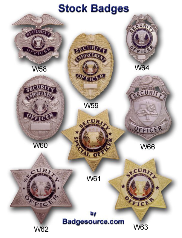 Stock security enforcement badges